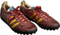 Football Collectibles:Others, 1970's Sonny Jurgensen Game Worn Washington Redskins Turf Shoes....