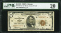 Fr. 1850-G* $5 1929 Federal Reserve Bank Star Note. PMG Very Fine 20