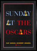 Movie/TV Memorabilia:Autographs and Signed Items, The Oscars Poster From the 71st Annual Academy Awards Signed and Inscribed....