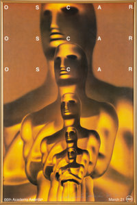 The Oscars 66th Annual Academy Awards Poster Signed