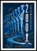 Movie/TV Memorabilia:Autographs and Signed Items, The Oscars Signed Poster From the 73rd Annual Academy Awards Signed & Inscribed....