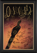 Movie/TV Memorabilia:Autographs and Signed Items, The Oscars Signed Poster From the 64th Annual Academy Awards With Signatures and Inscriptions to Producer Gil Cates From Celeb...
