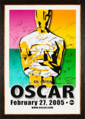Movie/TV Memorabilia:Autographs and Signed Items, The Oscars Signed Poster From the 77th Annual Academy Awards With Signatures and Inscriptions to Producer Gil Cates From Celeb...