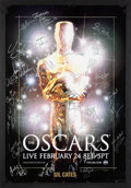 Movie/TV Memorabilia:Autographs and Signed Items, The Oscars Signed Poster From the 80th Annual Academy Awards With Signatures and Inscriptions to Producer Gil Cates From Celeb...