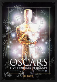 The Oscars Signed Poster From the 80th Annual Academy Awards With Signatures and Inscriptions to Producer Gil Cates From...