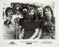 Music Memorabilia:Autographs and Signed Items, The Grateful Dead Signed Group Photograph Plus Arista Records Promo Package. ...