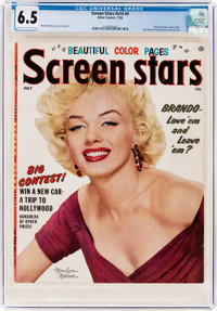 Screen Stars V14#4 Marilyn Monroe Cover (Atlas, 1956) CGC FN+ 6.5 Cream to off-white pages