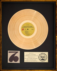 "The Rolling Stones Sucking in the Seventies 17"" x 21"" Gold Sales Award Presented to Atlantic Records (Atlantic..."
