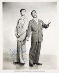 Music Memorabilia:Photos, Dean Martin and Jerry Lewis Signed Photo....