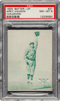 Baseball Cards:Singles (1930-1939), 1934-36 R318 Batter-Up Arky Vaughn (Green) #21 PSA NM-MT 8 - Pop Two, None Higher! ...