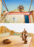 Animation Art:Painted cel background, Mighty Mouse and the Pirates Product...
