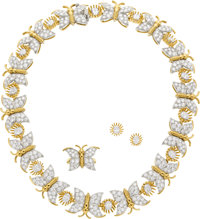 Diamond, Platinum, Gold Jewelry Suite, Schlumberger for Tiffany & Co. ... (Total: 3)