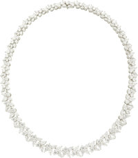 Diamond, Platinum Necklace, Tiffany & Co