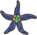 Estate Jewelry:Brooches - Pins, Sapphire, Emerald, Diamond, Platinum, Gold Brooch, Schlumberger for Tiffany & Co., French. ...