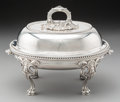 Silver & Vertu, A Silver-Plated Covered Serving Dish on Stand, circa 1900. Marks: Y. 9-1/2 x 12-1/8 inches (24.1 x 30.8 cm). ...