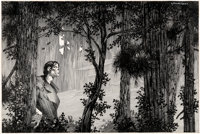 Bernie Wrightson Mary Wollstonecraft Shelley's Frankenstein Front Endpapers Illustration Original Art (late 1970s)