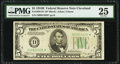 Fr. 1958-D* $5 1934B Federal Reserve Star Note. PMG Very Fine 25