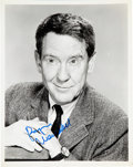 "Movie/TV Memorabilia:Autographs and Signed Items, Burgess Meredith Signed 8"" x 10"" Black and White Photo...."