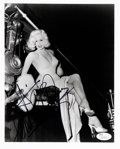 "Movie/TV Memorabilia:Autographs and Signed Items, Mamie Van Doren Signed 8"" x 10"" Black and White Photo...."