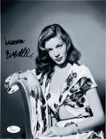 """Movie/TV Memorabilia:Autographs and Signed Items, Lauren Bacall Signed 8"""" x 10"""" Black and White Photo...."""