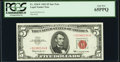 Small Size:Legal Tender Notes, Fr. 1536* $5 1963 Legal Tender Star Note. PCGS Gem New 65PPQ.. ...