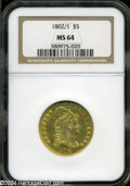 Early Half Eagles: , 1802/1 MS64 NGC. The current Coin Dealer Newsletter (...