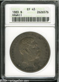 Coins of Hawaii: , 1883 Hawaii Dollar XF45 ANACS. ...