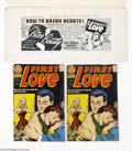 Original Comic Art:Miscellaneous, Harvey Staff Artist - First Romance House Ad Production Art(Harvey, 1957). The graphics on this house ad are quite catchy a...