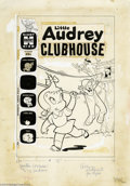 Original Comic Art:Covers, Warren Kremer - Little Audrey Clubhouse Cover Original Art (Harvey,1961). Audrey and her pals frolic at the clubhouse, no a...