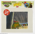 Original Comic Art:Miscellaneous, Teenage Mutant Ninja Turtles - Raphael Animation Cel (MWS Inc.,1991). Raphael takes center stage in this animation cel. The cel...