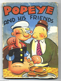 "Popeye and his Friends (Whitman, 1937)Condition: GD/VG. Hardcover storybook measuring 8.5"" x 11.5"". Includes d..."