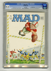 Mad #117 Gaines File pedigree (EC, 1968) CGC NM- 9.2 White pages. Charlie Brown spoof. Letter from (and photo of) Willia...