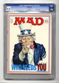 Magazines:Mad, Mad #126 Gaines File pedigree (EC, 1969) CGC NM 9.4 White pages. Uncle Sam cover by Norman Mingo. Jack Davis and Mort Drucke...