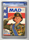 Magazines:Mad, Mad #140 Gaines File pedigree (EC, 1971) CGC NM 9.4 White pages. Norman Mingo cover. Mort Drucker, Al Jaffee, and Angelo Tor...
