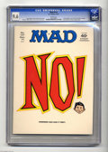 "Magazines:Mad, Mad #147 (EC, 1971) CGC NM+ 9.6 White pages. ""Little Big Man"" and ""All in the Family"" parodies. Richard Nixon and Spiro Agne..."