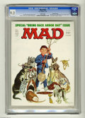 "Magazines:Mad, Mad #184 Gaines File pedigree (EC, 1976) CGC NM- 9.2 White pages. ""One Flew Over The Cuckoo's Nest"" and ""Rhoda"" spoofs. Bob ..."