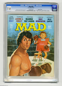 """Mad #194 Gaines File pedigree (EC, 1977) CGC FN/VF 7.0 Off-white pages. """"Rocky"""" and """"Laverne and Shirley&..."""