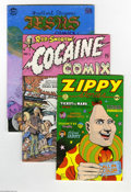 Bronze Age (1970-1979):Alternative/Underground, Underground Comix Group (Various, 1969-77). Let you freak flag fly with these Undergrounds: Cocaine Comics #1 (FN-); J... (Total: 6 Comic Books Item)