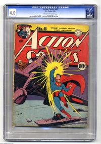 Action Comics #48 (DC, 1942) CGC VG 4.0 Cream to off-white pages. Japanese war cover by Fred Ray. Ray, John Sikela, Mort...