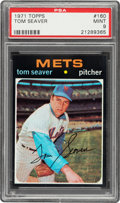Baseball Cards:Singles (1970-Now), 1971 Topps Tom Seaver #160 PSA Mint 9 - Pop Five, One Higher. ...