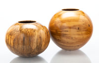 Philip Moulthrop (American, b. 1947) Two Bowls, circa 1990 Spalted silver maple, ashleaf maple 8