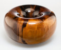 Carvings, Ed Moulthrop (American, 1916-2003). Torus Bowl, circa 1985. Figured tulipwood. 4-1/4 x 8 inches (10.8 x 20.3 cm). Signed...