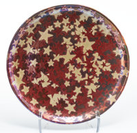 Clément Massier (French, 1835-1917) Starry Sky Charger, 1890 Luster glazed stoneware 16-1/2 inche