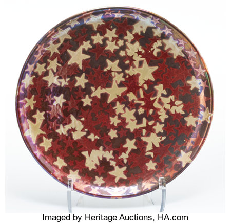 Clément Massier (French, 1835-1917) Starry Sky Charger, 1890 Luster glazed stoneware 16-1/2 inches (41.9 cm) Painted...