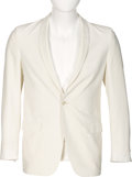 Music Memorabilia:Costumes, Elvis Presley Owned White Lansky Bros Jacket (circa 1960s)....