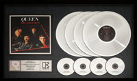 "Queen Greatest Hits 21"" x 33"" RIAA Hologram Multi-Platinum Sales Award Presented to Freddie Mercury (Elektra..."
