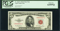 Small Size:Legal Tender Notes, Fr. 1532* $5 1953 Legal Tender Star Note. PCGS Choice New 63PPQ.. ...