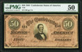 Confederate Notes:1864 Issues, T66 $50 1864 PF-1 Cr. 495 PMG About Uncirculated 50.. ...
