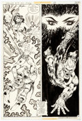 Original Comic Art:Panel Pages, Mike Grell Warlord #14 Story Page 12 Original Art (DC, 1978)....