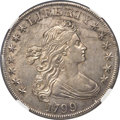 Early Dollars, 1799 $1 7x6 Stars, B-5a, BB-157, R.2, AU53 NGC....